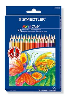 Färgpennor Staedtler Noris Club 36-pack