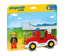 1.2.3 Brandbil med stege, Playmobil