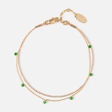 Kultapäällysteinen Rannekoru, Emerald stenar