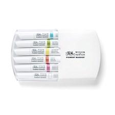 Graafinen Merkki Winsor & Newton Pigment Marker Setti 6 Vibrant Tones