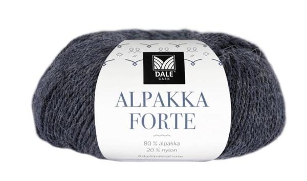Dale Garn Alpakka Forte Garn 50 g Indigo melert
