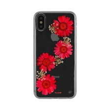 Mobildeksel, Real Flower Paula, Til iPhone X, Red, FLAVR