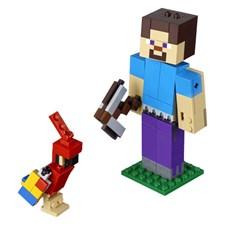 Minecraft BigFig Steve med papegoja, LEGO Minecraft (21148)