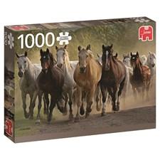 Puslespill, Team of Horses, 1000 brikker, Jumbo