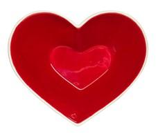 Sagaform Skål Sweetheart Röd Vit