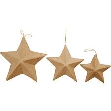 Julgransdekoration Stjärnor 6 st