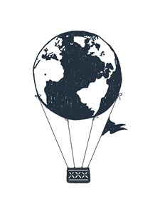 Earth air ballon Poster A4