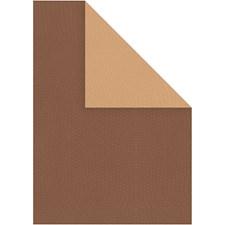 Strukturkartong, A4 210x297 mm, 250 g, 10 ark, brun/sand