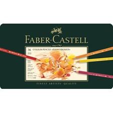 Polychromos värikynät peltirasiassa 36 väriä Faber-Castell