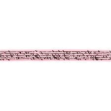 Sidenband Med Tryck 10 mm x 8 m Rosa