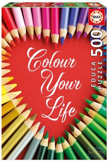 Pussel, Colour Your Life, 500 Bitar, Educa