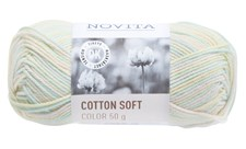 Novita Cotton Soft Color Bomullsgarn 50 g linnea 806