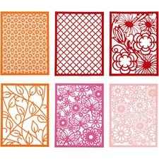 Blondekartong i blokk, A6 104x146 mm,  200 g, orange, pink, rosa, rød, 24stk.