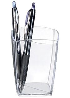 Pennkopp med Två Fack 74x74x95 mm Crystal