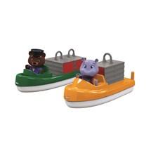 Lekter og transportbåt med figurer, AquaPlay