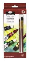 Set med Akvarellfärger på tub, 12 x12 ml + 2 penslar Royal & Langnickel