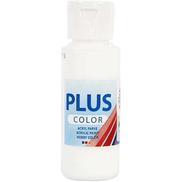 Plus Color-askartelumaali, 60 ml, white
