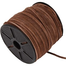 Ruskinnssnøre, 3 mm, 9 m, brun