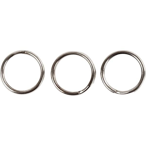 Nyckelring dia 12 mm Metall 100 st - övriga smyckesdelar  b2fbc1a770de2