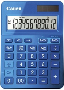 Miniräknare Canon LS-123K Blå
