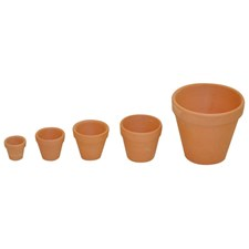 Terrakottakrukker, 10 stk., Ø 5 cm, Playbox
