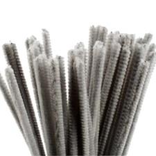 Piprensare, tjocklek 6 mm, L: 30 cm, 50 st., grå