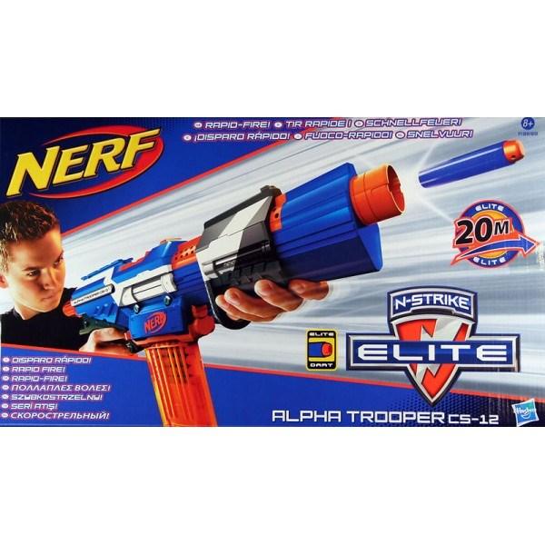 Nerf N'Strike Elite Alpha Trooper CS-12 - uteleksaker & sportleksaker