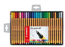 Ritpennor Fineliner Stabilo Point 88 Multi 25-pack