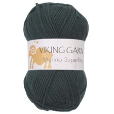 Viking of Norway Merino Superfine Garn Merinoull 50g Buteljgrön 637