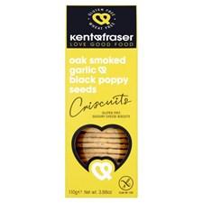Kent & Fraser Crackers Ekrökt Vitlök & Vallmo Glutenfri 110 g