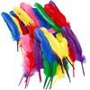 Indianerfjær, L: 20 cm, 36 ass., ass. Farger