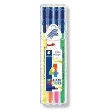 Triplus® textsurfer® 4-pack, i STAEDTLER-box, 1-4 mm fiberspets. 4 Neonfärger
