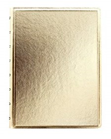 Filofax Notebook A5 Saffiano Gold