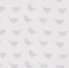 Bomullstyg Fåglar 50x160 cm Grå