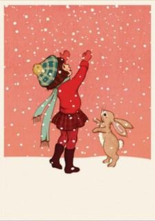 Gratulasjonskort Belle &Boo Catching Snow