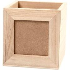Blyantholder, str. 10x10x10 cm, hullstr. 6,2x6,2 cm, keisertre, 1stk.