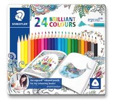 Färgpennor trekantiga STAEDTLER ergosoft® 24-pack