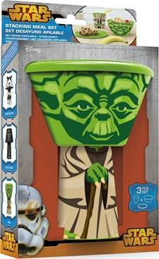 Kopp, tallerken og bolle i gavepakning, Yoda, Star Wars