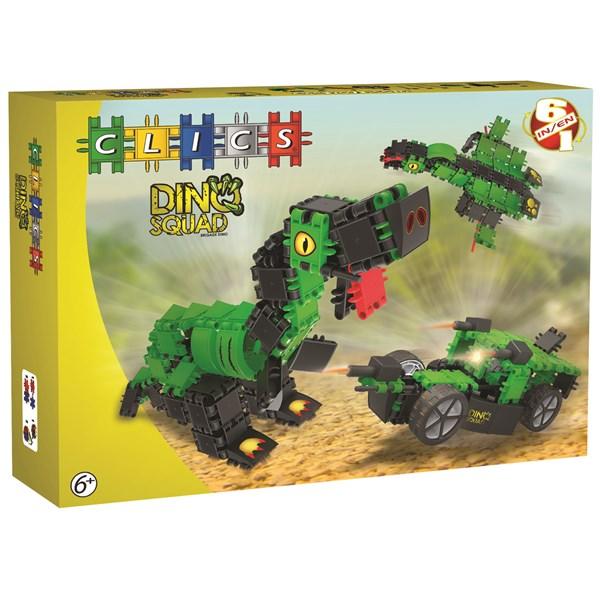 Dino Squad Box - 6 In 1  Clics  SunnyToys - klossar & byggleksaker