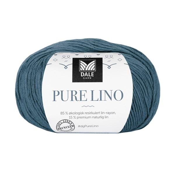 Dale Garn Pure Lino 50 g Mörk denimblå 814