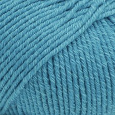 Drops Cotton Merino Uni Colour Garn Ullmix 50g Turquoise 24