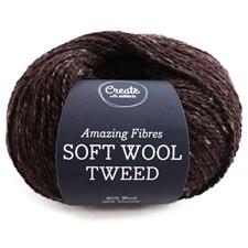 Adlibris Soft Wool Tweed 50g Dark Chocolate A477