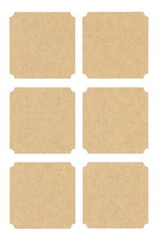 Klistermärken Kraftpapper Fyrkantiga Etiketter 24 st