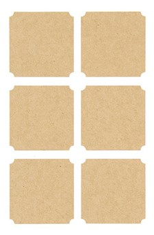 Voimapaperitarrat, Etiketit, neliskanttiset 15/ 10 cm, 24 kpl