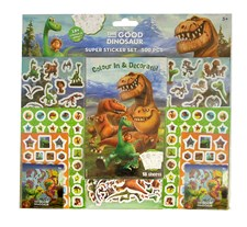Puuhapakkaus tarrat Dinosaurukset Sense 500 kpl