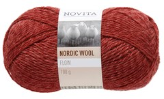 Novita Nordic Wool Flow Garn Ullgarn 100g, kryddpaprika 057
