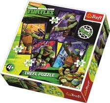 4-i-1 pussel, Ninja Turtles, Trefl