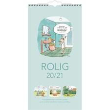 Burde Väggkalender 20-21 Familjekalender Rolig