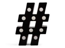 Lampa Hashtag, Svart, Form Living