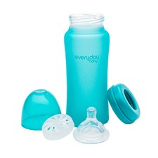 Nappflaska MilkHero 300ml, Turkos, Everyday Baby